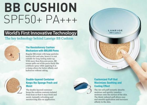Laneige BB cushion SPF 50+/PA+++